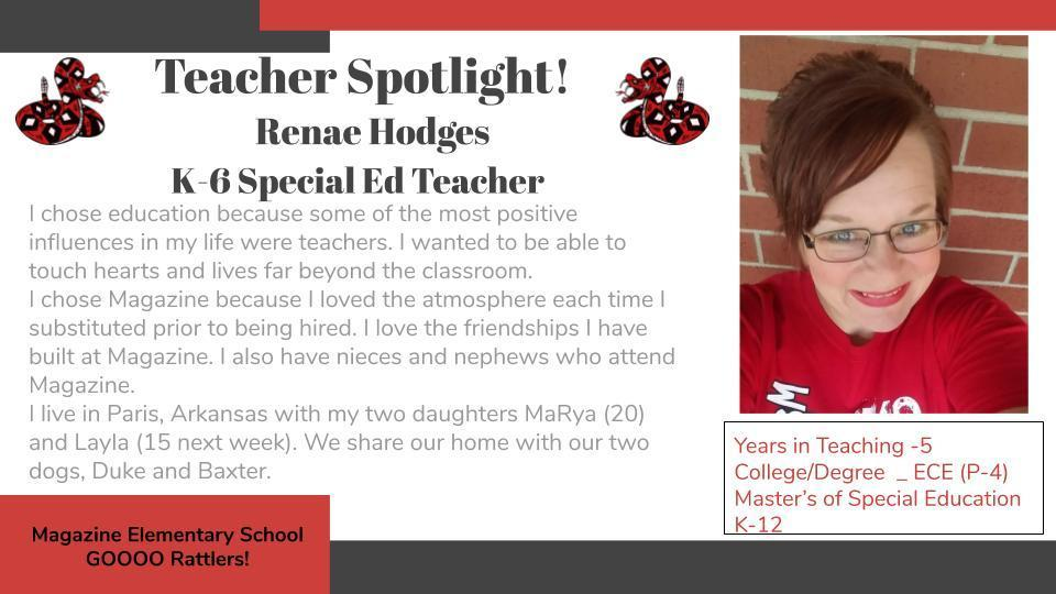 Heart of a Rattler Recognition: Ms. Hodges