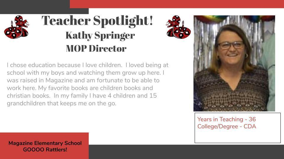Heart of a Rattler Recognition: Ms. Kathy