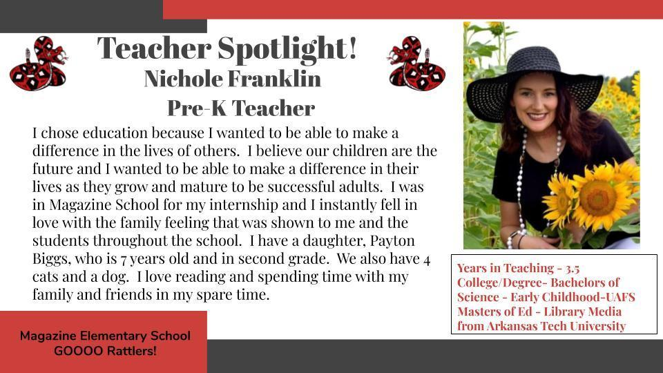 Heart of a Rattler Recognition: Ms. Franklin