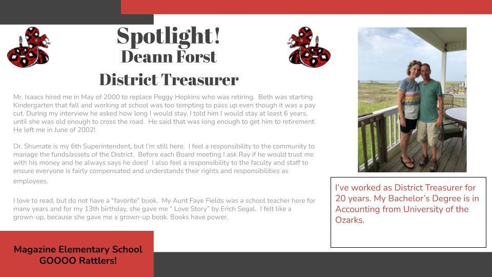 Heart of a Rattler Recognition: Mrs. Forst