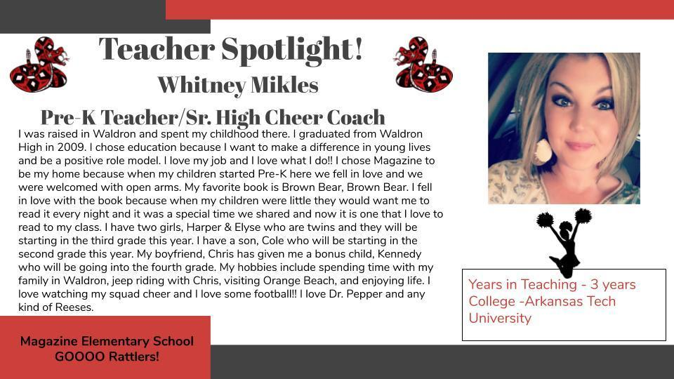 Heart of a Rattler Recognition: Ms. Mikles