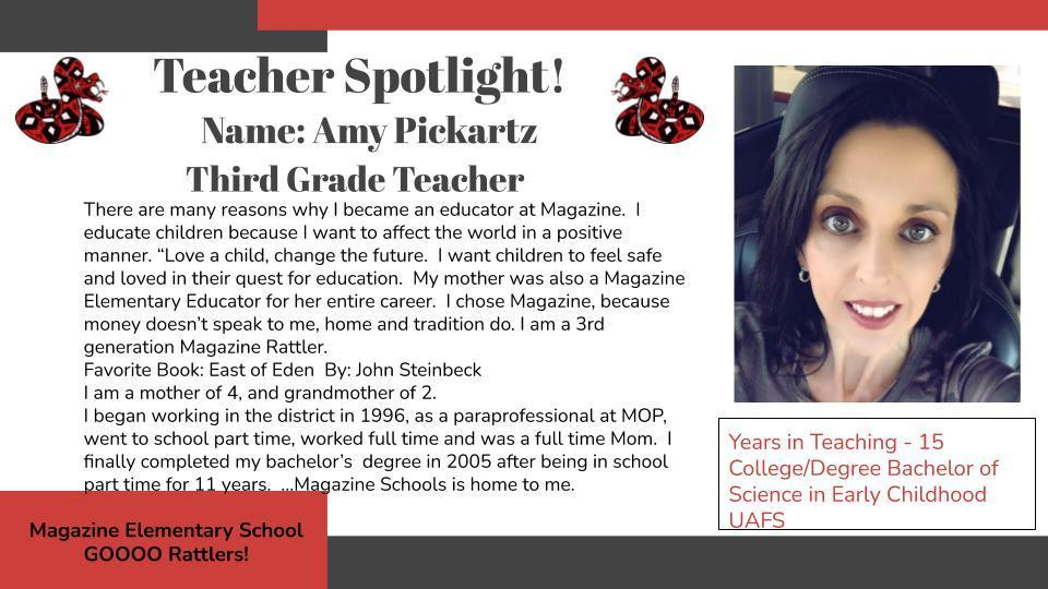 Heart of a Rattler Recognition: Ms. Pickartz