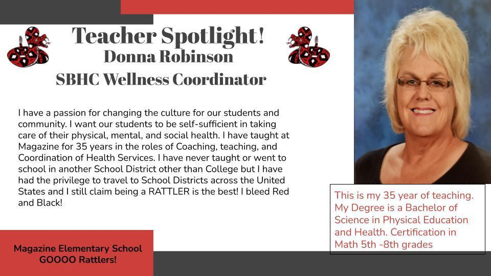 Heart of a Rattler Recognition: Donna Robinson