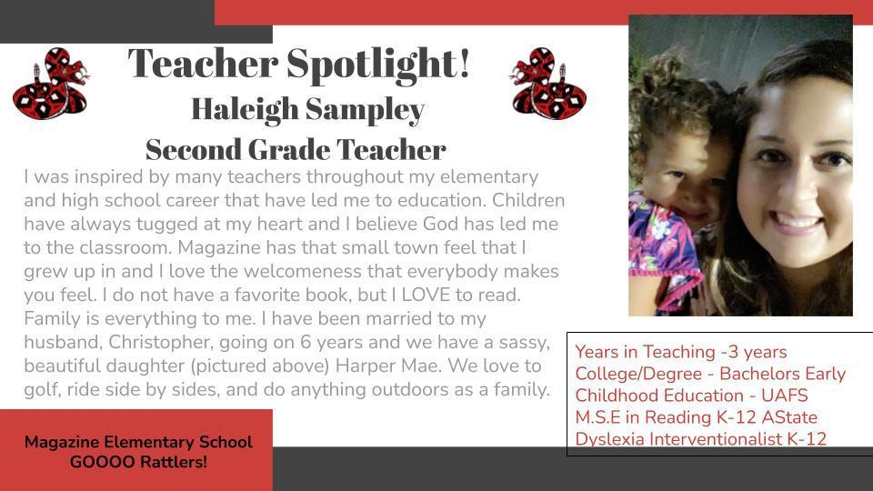 Heart of a Rattler Recognition: Mrs. Sampley