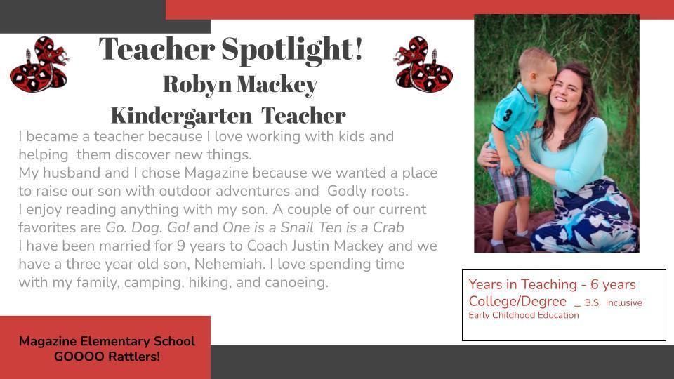 Heart of a Rattler Recognition: Mrs. Mackey