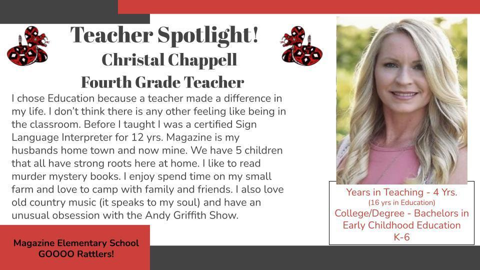 Heart of a Rattler Recognition: Mrs. Chappell