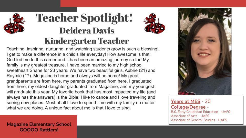 Heart of a Rattler Recognition: Mrs. Davis