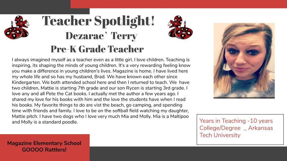Heart of a Rattler Recognition: Ms. Terry