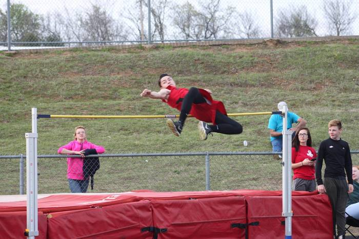 Chase Gipson going for 6' in high jump