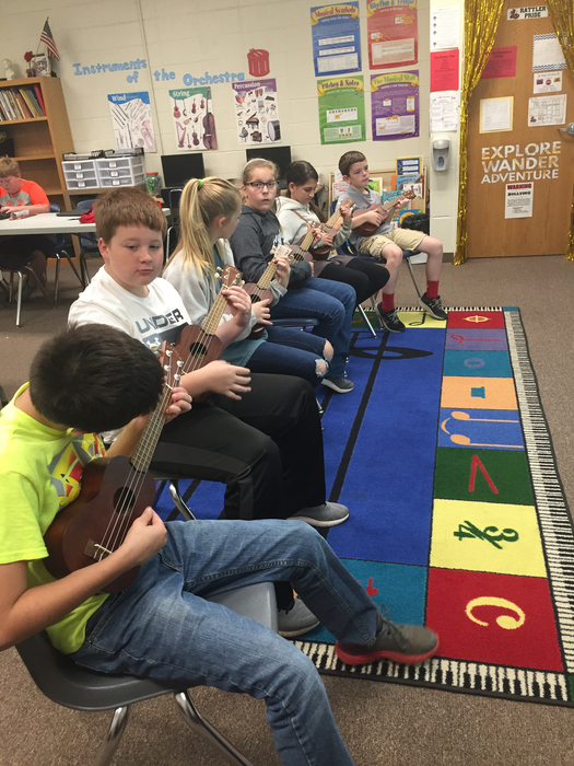 Fun with ukuleles.