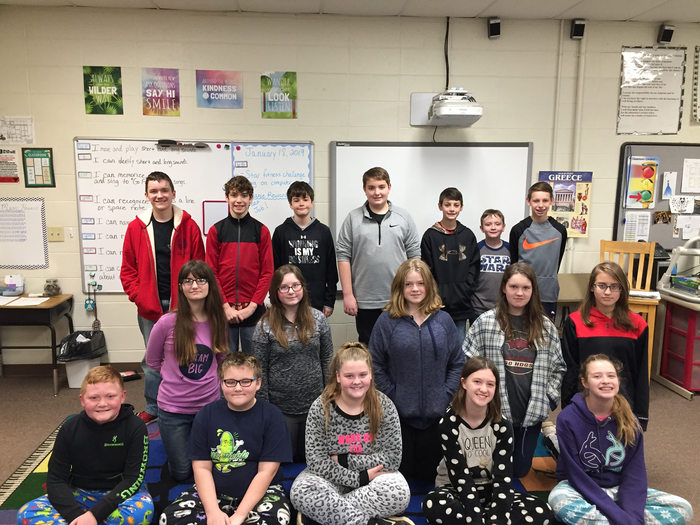 Pajamas and games during 6th Social Studies today.
