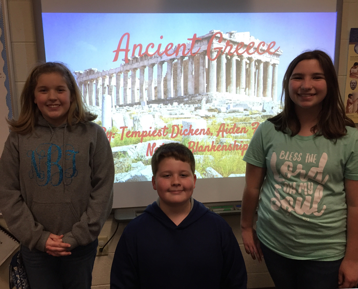 GT students did a great job presenting their Ancient Greece project.