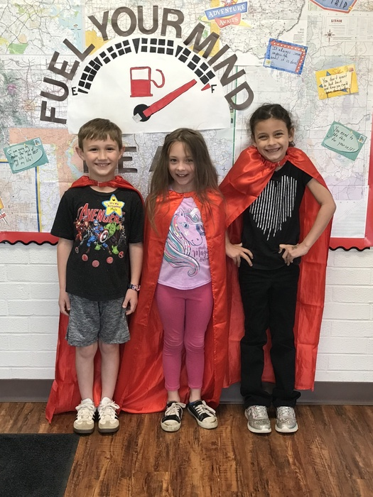 I-Station Heroes for Reading in Mrs. Young's 1st grade class! These students had the biggest increase in their score for April.