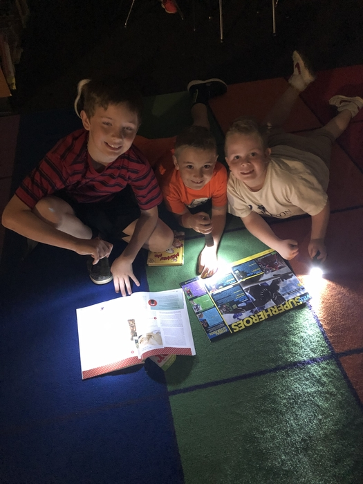 Flashlight reading!
