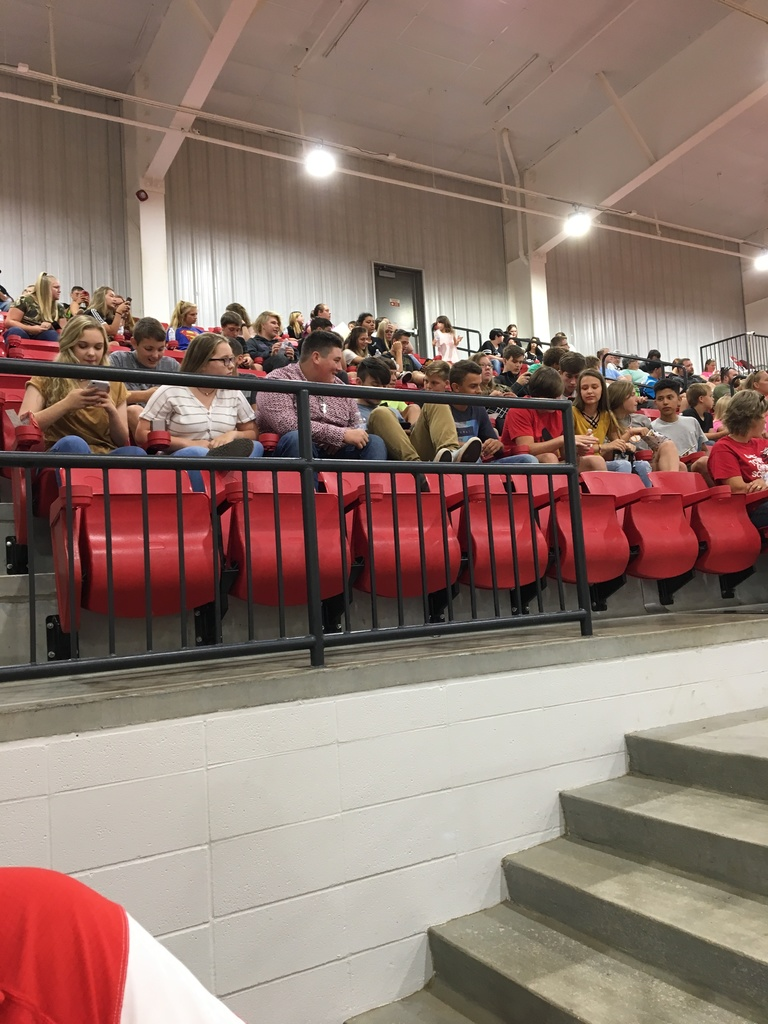 Student section beginning to fill up before orientation