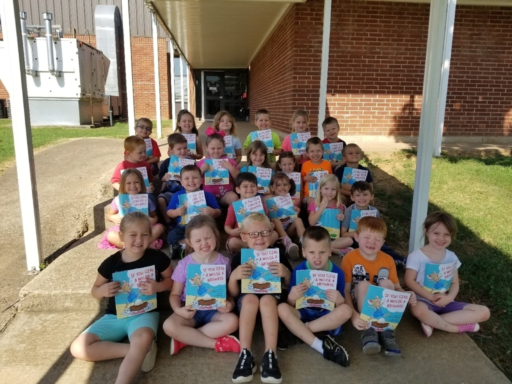 Kindergarten was sponsored by community members to receive a free scholastic book each month! They are excited! Thank you for encouraging our kids to love reading!!