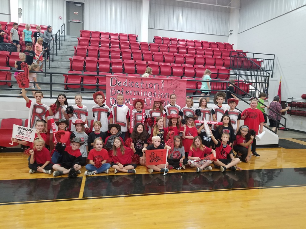 5th grade showing RATTLER PRIDE at the pep rally! Whooo hooo elementary spirit bell winners!!! GO 5th GRADE! Ms. Lowder and Ms. Duke's classes.