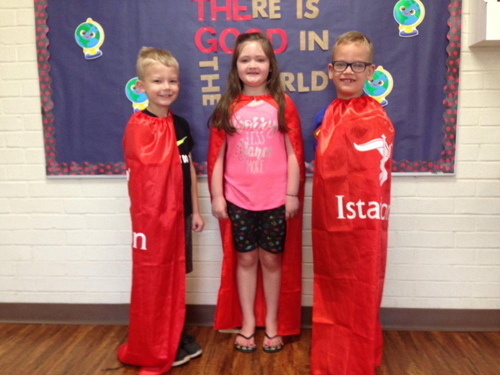 Mrs. Young's 1st Grade Istation Heroes for the month of September! Cole Mikles - Top reading score for the month of September. Taybree Scott - biggest increase in Reading score (12 points). Caleb Mott - second highest increase in Reading score (11 points).
