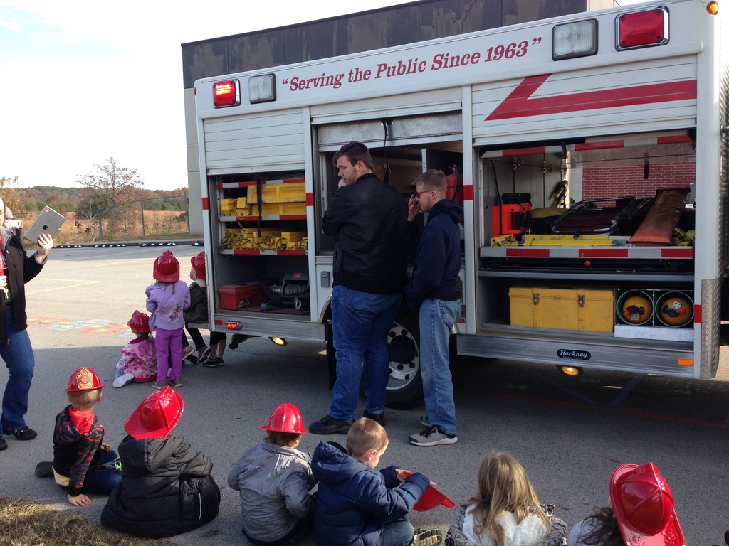 Fire Department Visits Pre-K and K