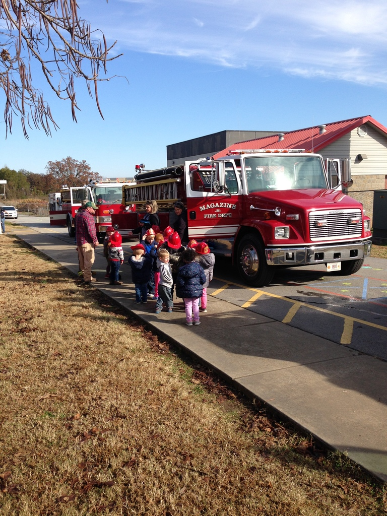 Magazine Fire Department visits Pre-K and Kindergarten