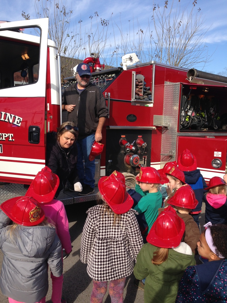 Fire Department visits Pre-K and Kindergarten