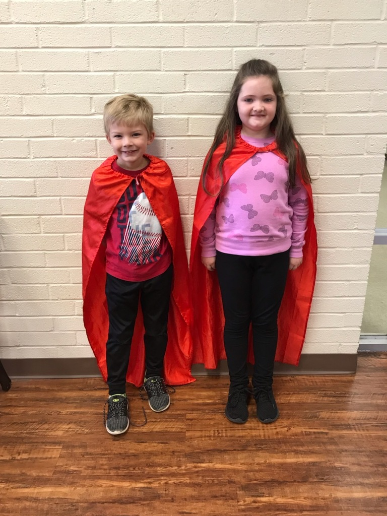 Mrs. Young's 1st-grade I-Station Heroes.  Cole Mikles--Top Math score for November.  Taybree Scott--biggest increase in Math for the month of November.